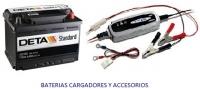 Baterias, Cargadores, accesorios