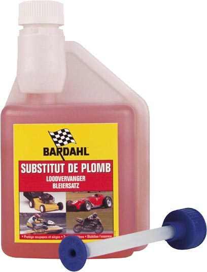 Sustituto plomo - Sustituto del plomo. Permite utilizar gasolina  sin plomo en motores 2 y 4 t que funcionaban con gasolina con plomo.