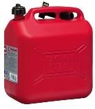 Bidon Plástico Combustible - Bidon rectangulas de plástico con cánula rígida. Tres modelos con 5 ,10 o 20 litros de capacidad.