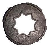 Separador estrellas goma peladora - Separador para las estrellas de goma de las peladoras de almendra y pistacho.