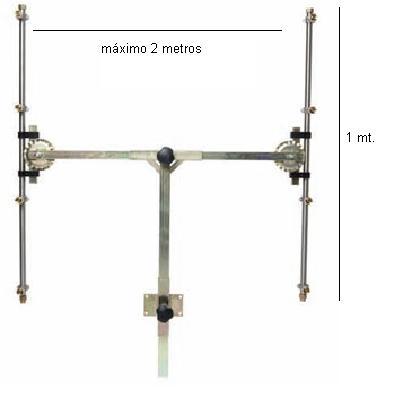 BARRA EN T 4+4 PULVERIZADOR REGULABLE - Barra en T con pulverizadores.