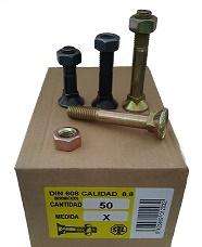 TORNO ARADO 88 11X80 - TORNO ARADO ACERO 8.8 11X80 CON TUERCA EXAGONAL (precio unidad)