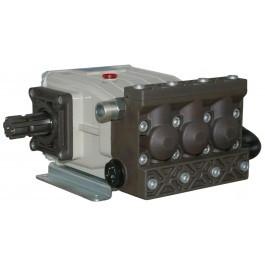 BOMBA P-73 3 PISTONES - Bomba Imovilli de alta presión con 3 pistones buzos integrales en cerámica con dobles collarines y circuitos de recuperación. Partes mecánicas en baño de aceite totalmente separadas de las hidráulicas sin mando (Puede llevar opcional el mando de latón)